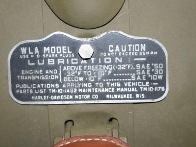 TM 9-879 Operator /& Maintenance Manual for 1942 Harley WLA Motorcycle
